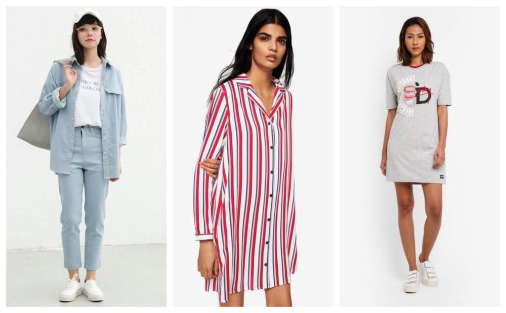 Shopsfashion Torn Boyfriend Shirt | Mango Printed Shirt Dress | Superdry Boyfriend T-Shirt Dress