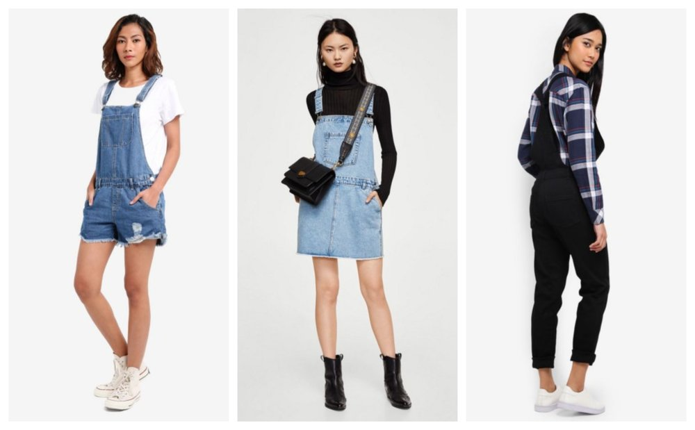 Cotton On The Classic Overall  |  Mango Medium Denim Dungarees  |  Jack Wills Ottringham Dungarees