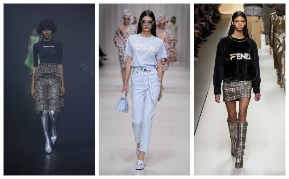 Balenciaga Spring 2018 | Versace Spring 2018 | Fendi x Fila Fall 2018