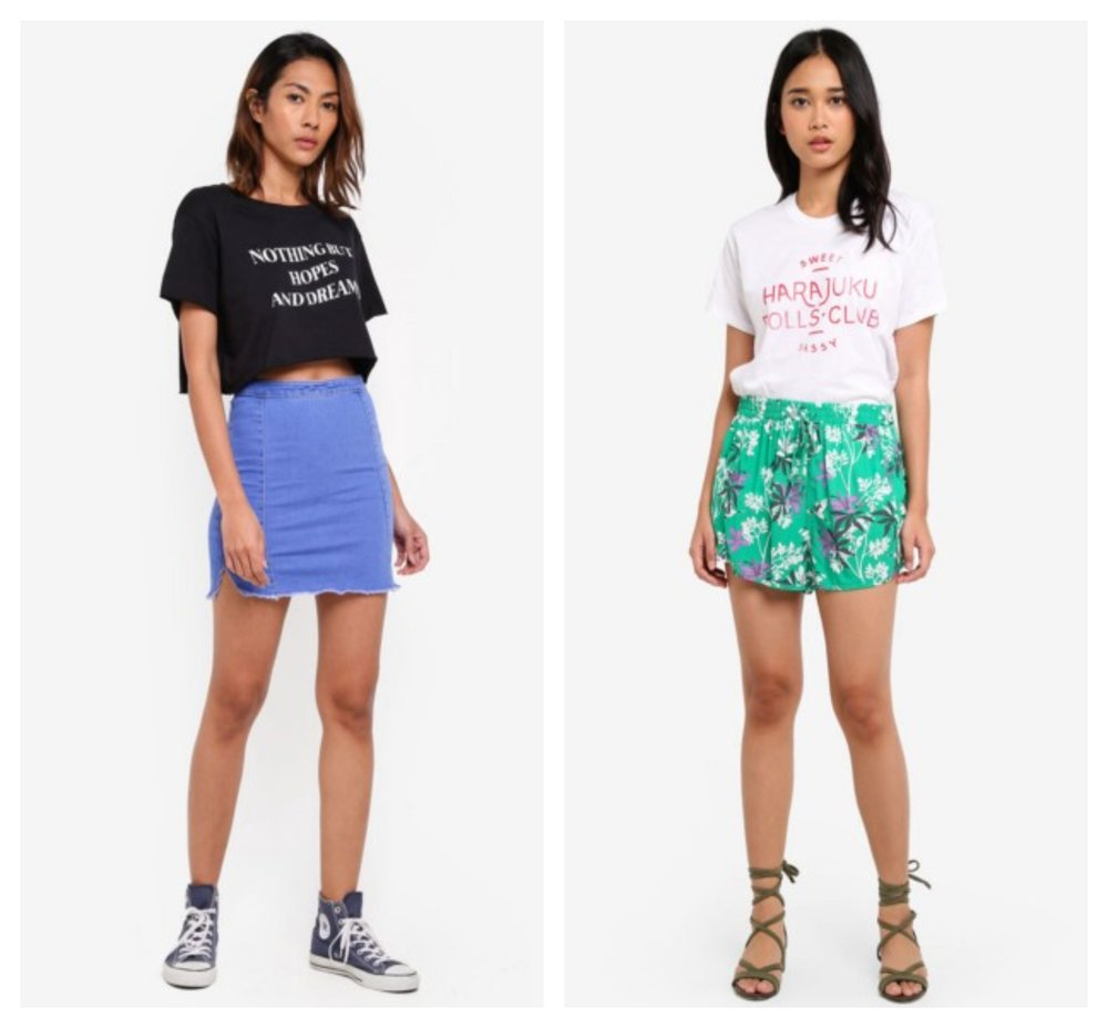 Supre Printed Super Crop Tee  |  Cotton On TBar Fox Graphic T-Shirt