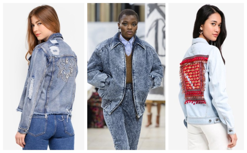 Glamorous Embellished Denim Jacket  |  ONLY Chris Dream Embroidery Denim Jacket