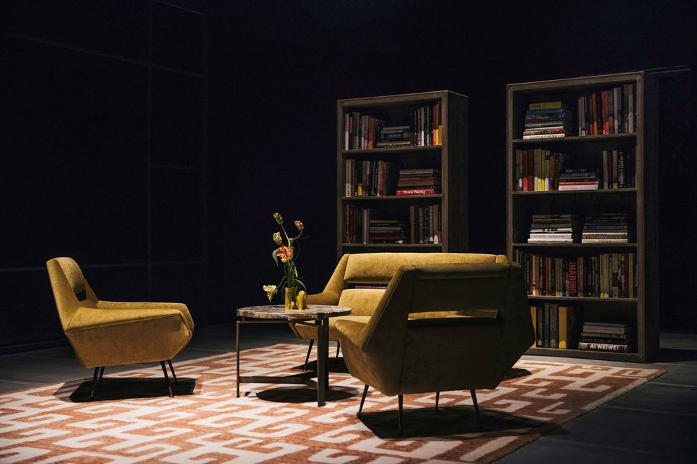 Maier incorporated his brand's Furniture collection into the set of the Fall/ Winter '18 show.