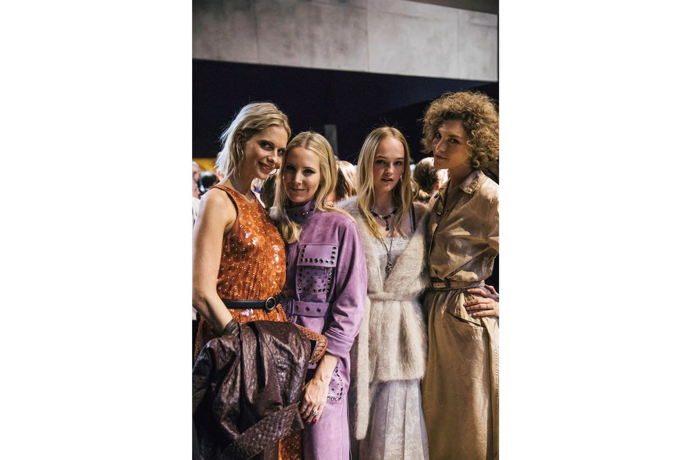 Poppy Delevingne, Alice Naylor-Leyland, Jean Campbell, Arizona Muse were among guests at the Bottega Veneta Fall/ Winter '18 show.