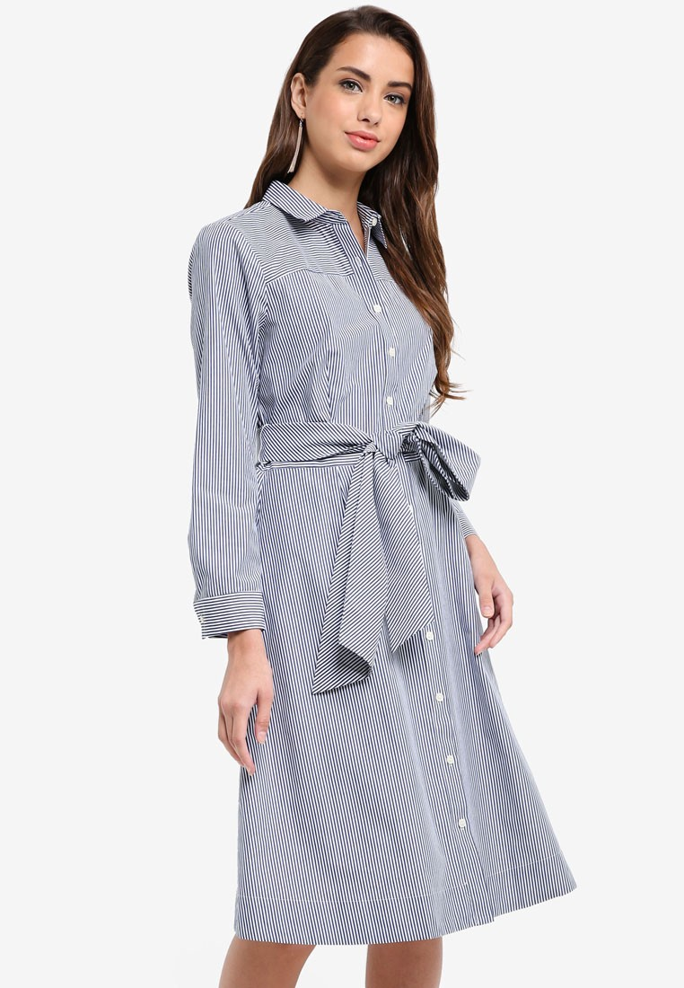 J.Crew Maribou Mixy Striped Shirt-Dress
