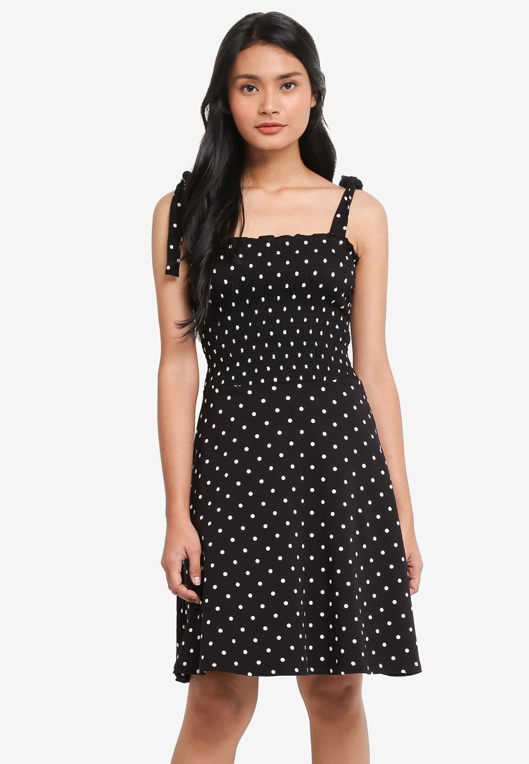 Dorothy Perkins Black/Ivory Spot Sundress