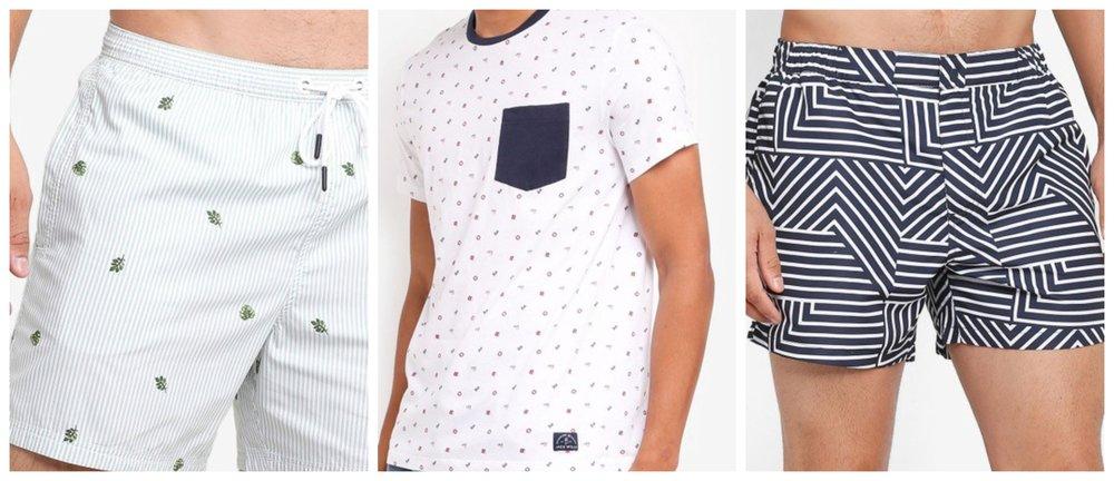 Branwell Stripe Swim Short | Eagle Boat Print T-Shirt | Wittering Tailored Swim Shorts