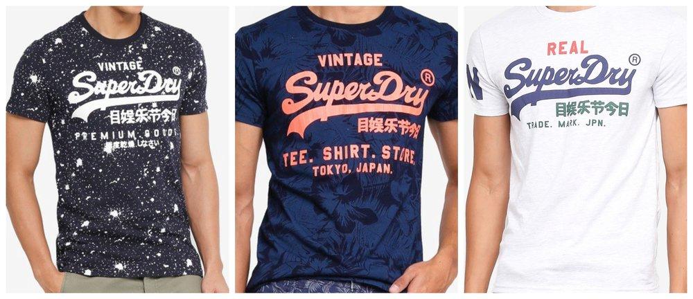 Premium Goods Paint Splatter Tee | Shirt Shop Indigo Aop Tee | Vintage Logo Tri Tee