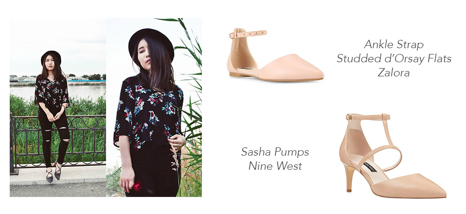 Source: Asemgul Kairzhan on Lookbook.nu, Zalora & Nine West   Your summer shoe collection ain't complete without a pair of good ol' sandals but strappy, open-toed sandals are a such a thing of the past. For this season, why not step out of the box and wear pointed-toe sandals instead? While not many would choose pointed-toe sandals as their summer shoes, this type of footwear tends to flatter your feet and make your legs appear slimmer. Pair them up with a cute floral mini summer dress and you'll be the talk of the town.  Although, since these shoes are a little less roomy than the strappy open-toed sandals, make sure to get the right size so your toes can fit snuggly inside. If they're too tight, you can get rashes or blisters after walking all day in a pair of uncomfortable pointed sandals.  Try the ankle strap studded d'Orsay flats from  Zalora  for a more casual stroll in town or the Sasha Pumps from Nine West to slay the dance floor at the hottest beach club.      Backless Loafers