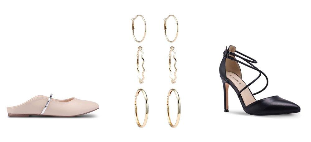 Vincci Slide On Sandals | Red's Revenge 3-in-1 Hoop Earrings | ZALORA Cross StrapsHeels