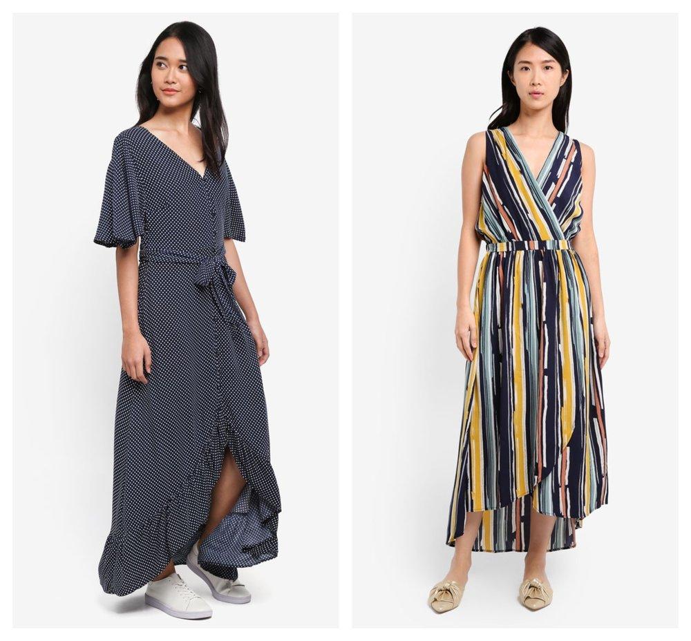Cotton On Woven Dallas Cape Sleeve Maxi Dress | ZALORA Maxi Wrap Dress
