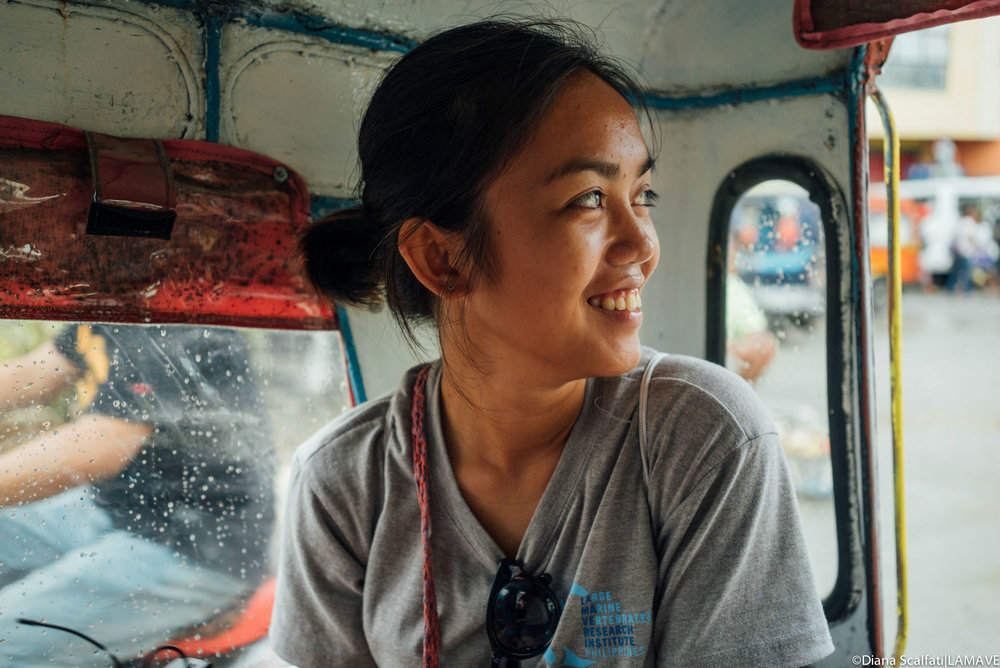Mary Jane Lamoste    Researcher   Originally from the province of Southern Leyte, Philippines, MJ graduated with a BSc major in Marine Biology at the Visayas State University, Baybay City, Leyte. She joined LAMAVE in 2015, initially on the Mobulidae fishery project in Bohol as a Research Assistant. She is incredibly passionate about the marine environment and now she is a Project Leader for the Apo Island Turtle Project.   BSc. Marine Biology – Visayan State University, Baybay City, Philippines