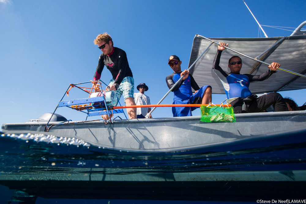Photo 4. Lead author Ryan Murray with the Rangers of Tubbataha Reefs including Segundo Conales Jr (right).