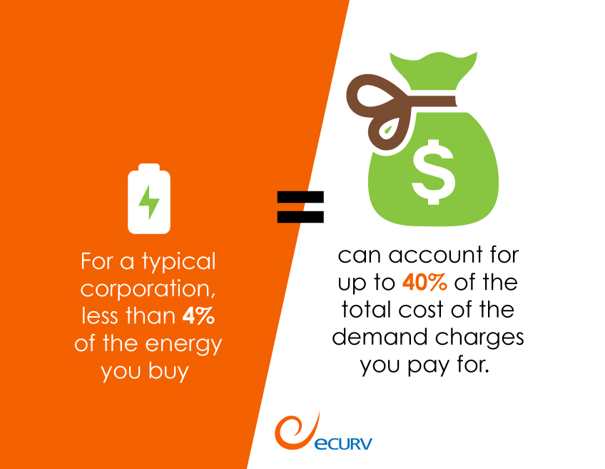 For a typical corporation, less than 4% of the energy you buy can account for up to 40% of the total cost of the demand charges you pay for.