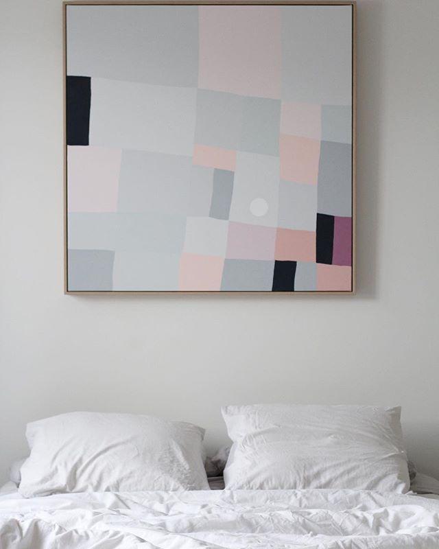 • r e c e n t  w o r k • Available through @_honeyjackson . . . #scandi #scandinaviandesign #blush #art #painting #oak #interiordesign #interiorstyling #melbourne #australia #home #artist #architecture #artwork #contemporaryart