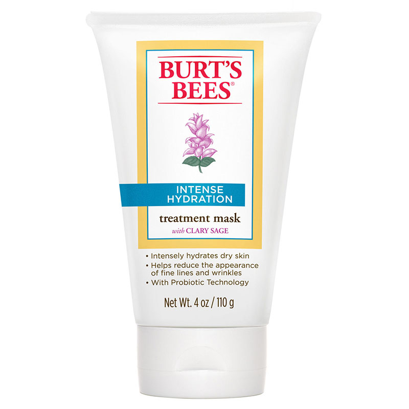 Burt's Bees Intense Hydration Treatment Mask - Burt's Bees Intense Hydration Treatment Mask is infused with Clary Sage to provide intense hydration and help increase skin's ability to retain moisture. It also works as a natural anti-aging solution.