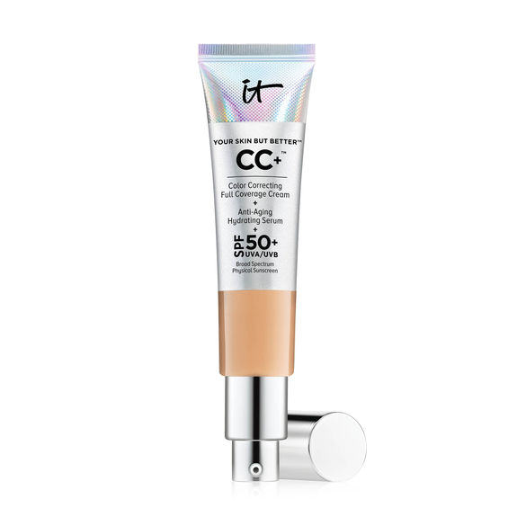 IT COSMETICS Your Skin But Better CC+ Cream - IT COSMETICS Your Skin But Better CC+ Cream is a full-coverage cream with SPF 50+. This CC cream is for all skin types. It's ingredients include collagen to support skin elasticity and antioxidants to protect skin from inflammation and aging.
