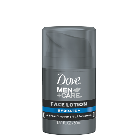 Dove Men +Care Hydrate + Face Lotion - Designed specifically for men, this non-greasy face lotion is a suitable for everyday use and offers advanced protection for skin.