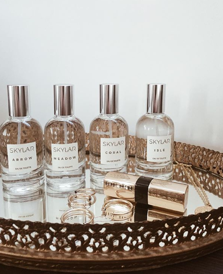 SKYLAR - Skylar has a collection of Clean and Modern Scents that are unique, light, and never overpowering. All scents are natural, free of parabens and free of toxic chemicals. They are also hypoallergenic, skin-safe and non-irritating. Skylar makes their products through a cruelty-free approach and are never tested on animals. A proud vegan brand.