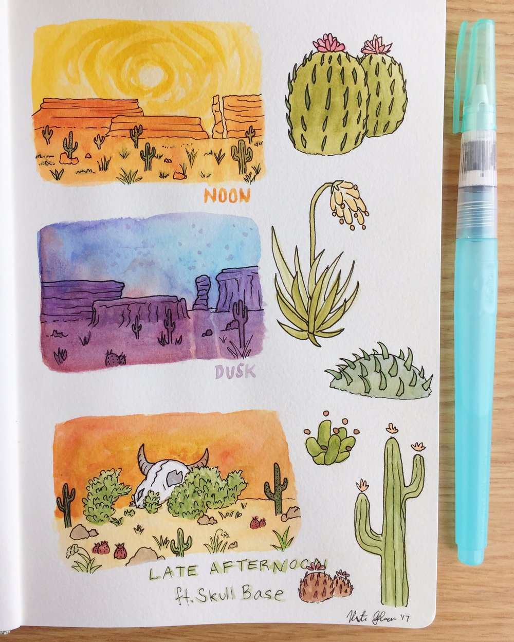 Alien Cacti/Desert Environment Studies