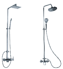 Sliding shower set