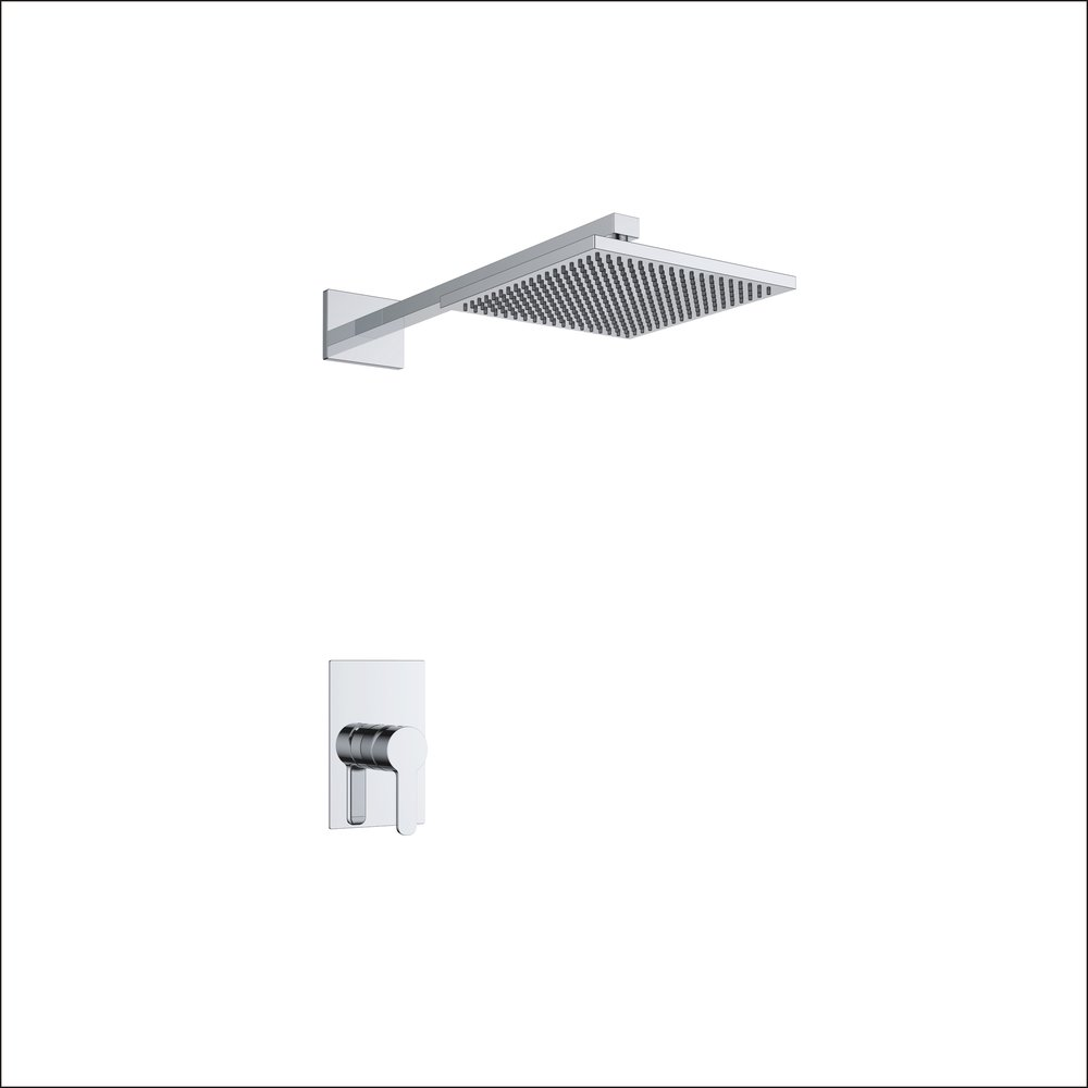 718-102: Concealed shower valve with head shower