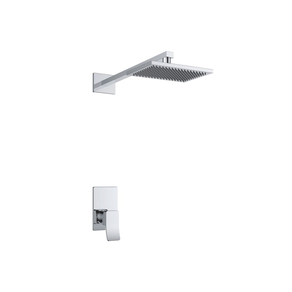 7327-102: Concealed shower valve with head shower