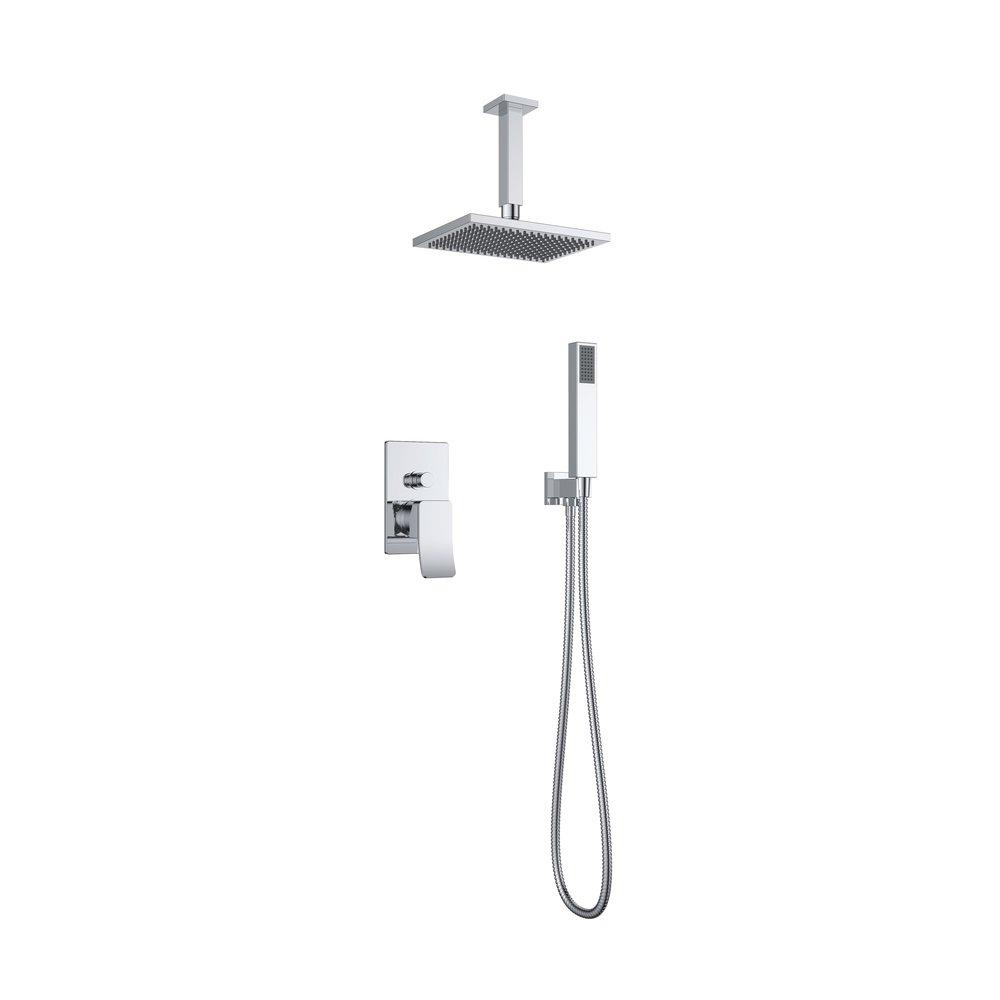 7327-101: Concealed shower valve with shower set and head shower