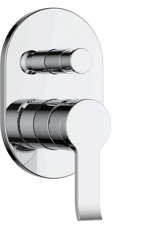 736-106: Concealed shower valve with diverter