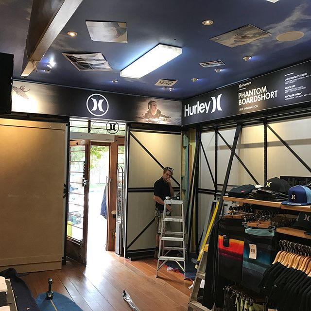 Hurley concept area getting a new make over at our Nth Av store.  Exciting times ahead for Hurley 2.0 retail concept area. @hurley @bobhurley @ryanhurley @maxtalb stay tuned for photos of the new area.