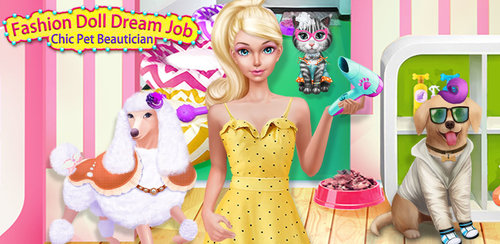 Little Miss Dream Pet Groomer  Have you ever wanted to give your puppy or kitty a salon makeover? Now you can! Fashion Doll Dream Job - Chic Pet Beautician gives you all the tools you need to work on lovely little puppy and kitty pets in your very own nursery dress up show and salon.