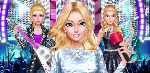 Fashion Doll - Pop Star Girls  Show off your pop star style in this fun makeup and dress up game where you're the STAR! It's time to dress up the pop star for a huge show!