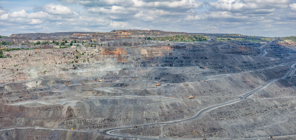 Gettty Image of an open-pit mine.
