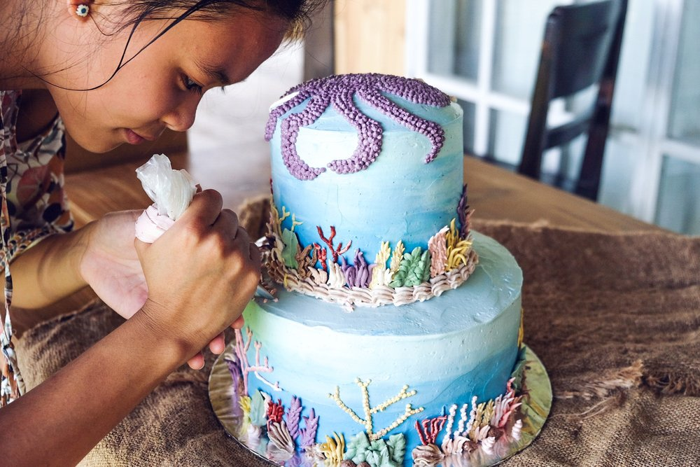 Arielle - Ocean Vegan Cake Bali