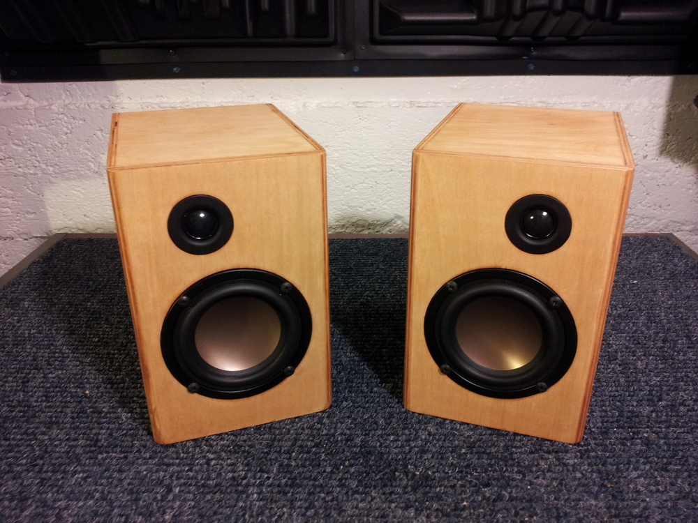 The finished pair. Time to enjoy some music!
