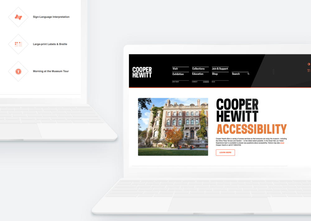 cooperhewitt.org - Inclusive Design + Web Design / Development