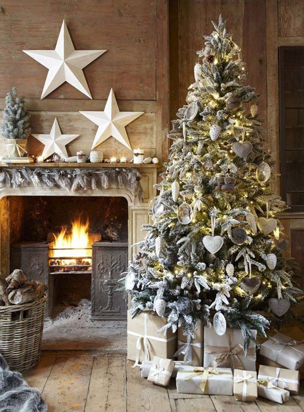 rustic winter cabin style - Cabin Style Christmas Decorations