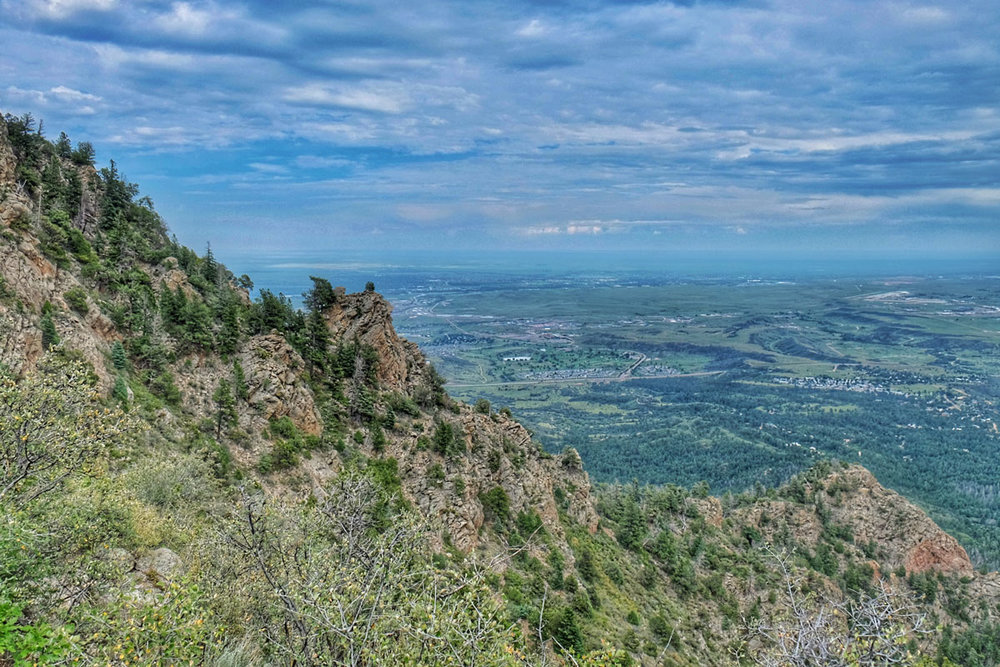 The upper portion of the trail holds incredible views of Colorado Springs and the Eastern plains - Photo by Kevin Mallek