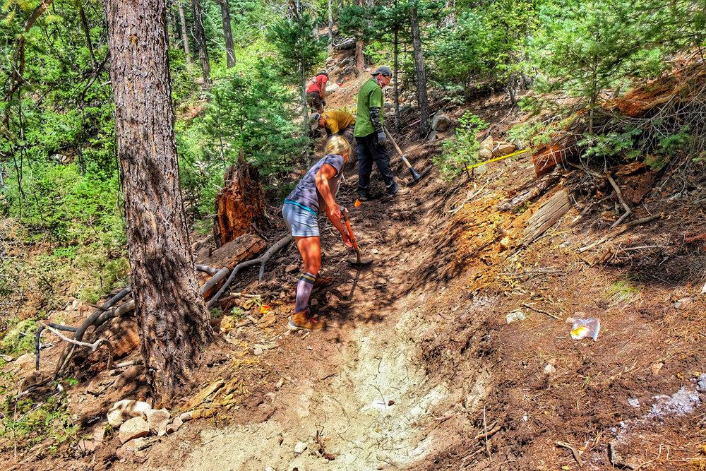 colorado springs hiking trails dixon trail work