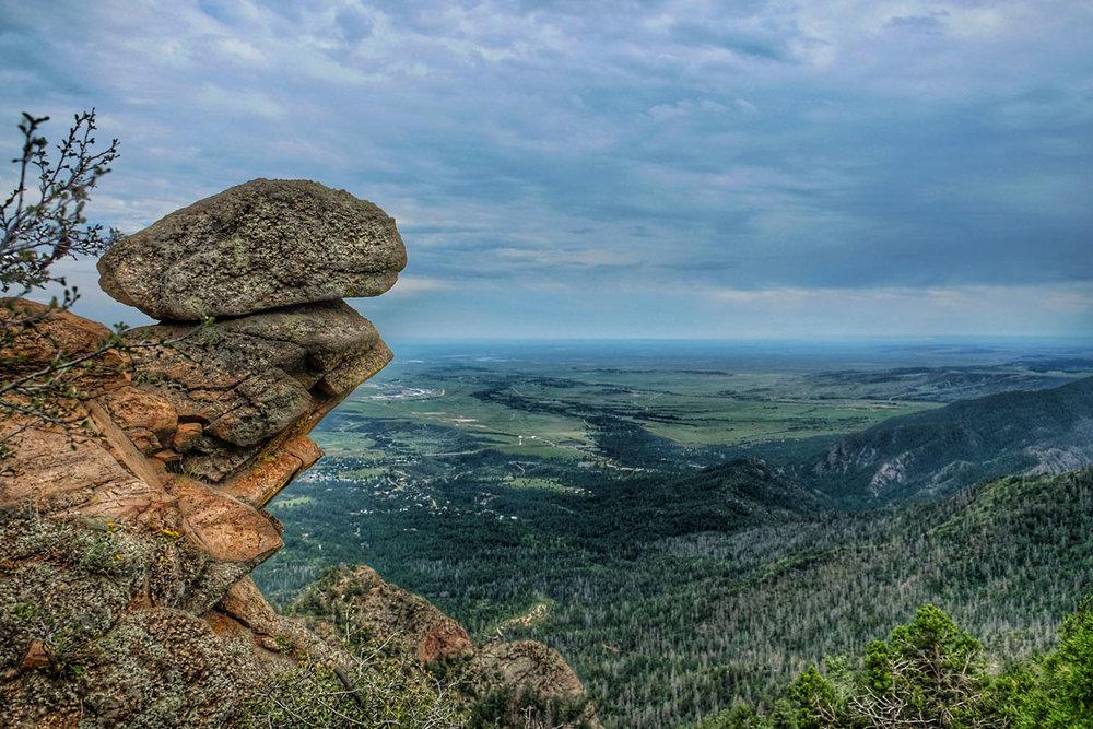 colorado springs hiking trails dixon trail view