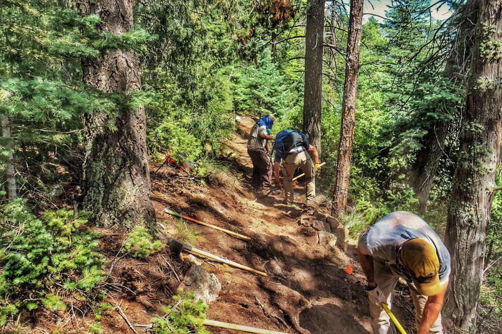 colorado springs trail work hiking dixon trail cheyenne mountain state park