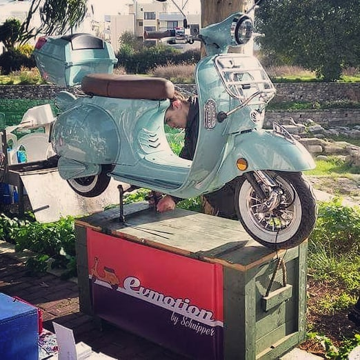 Our first gift for the Kos island Follow us and Have chace to get a Vexy 😉😉#vespalovers #vespa #emotorcycle #greece #bikes #instalike #scooter #traveller #photography #vexy #vexyisthebest