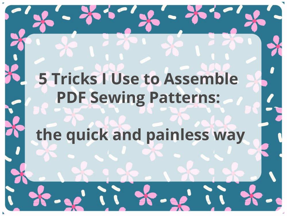 print pdf patterns easily