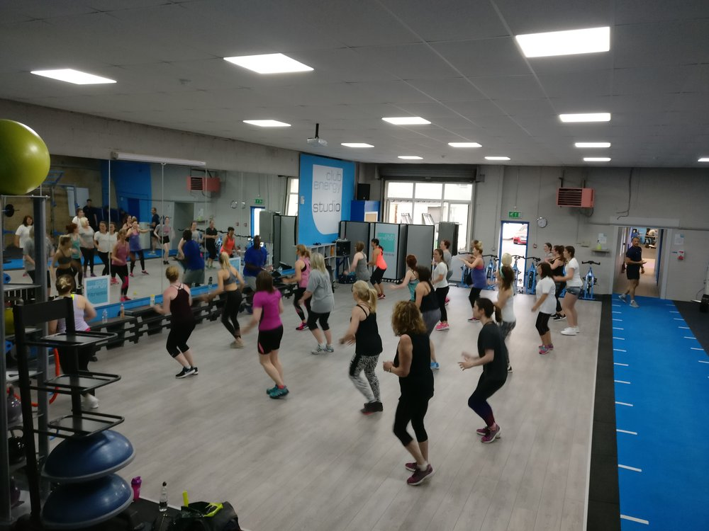 Zumba class taken from a Wednesday evening with Naps, one of our Zumba teachers