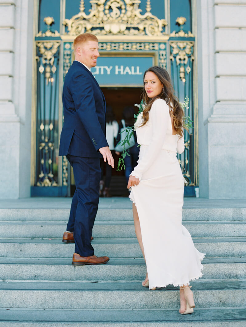 San Francisco City Hall Elopement — Trendy Bride - Fine Art ...