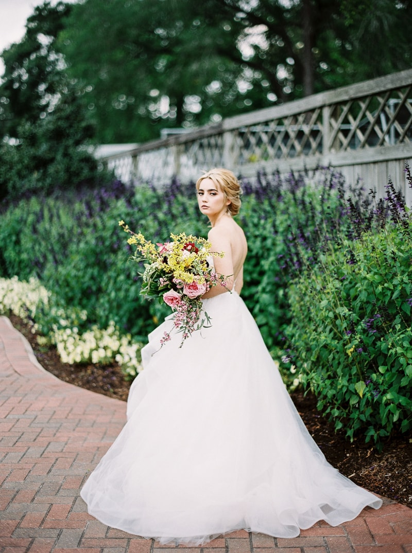 garden bridal styled shoot