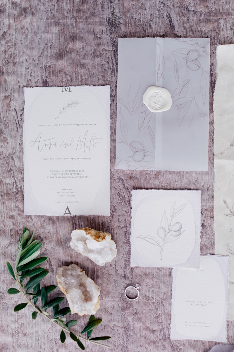 monochromatic wedding inspiration