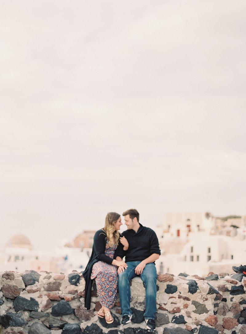 santorini engagement photos