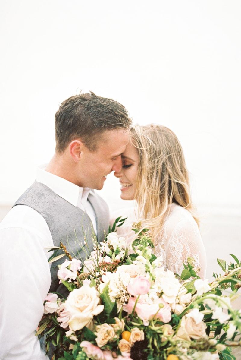 romantic coastal elopement
