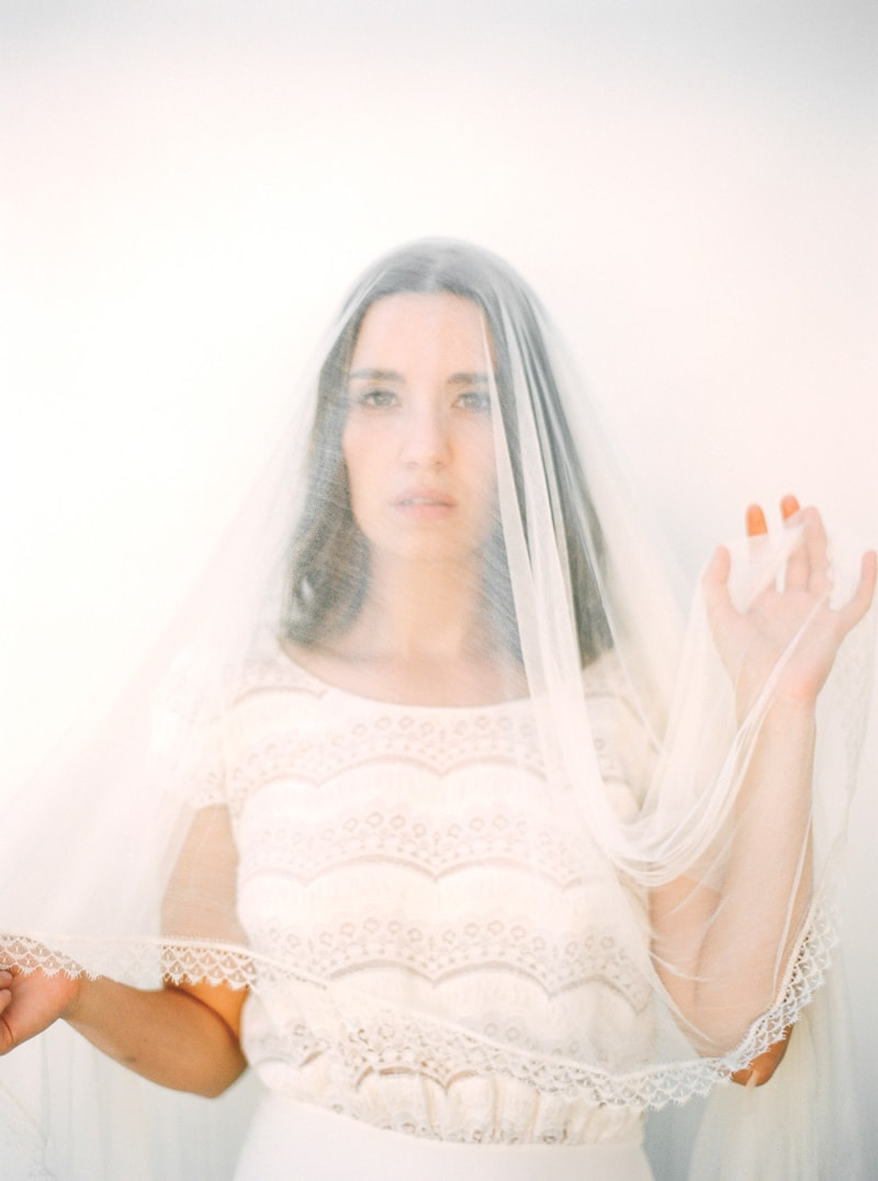 santorini bridal portraits