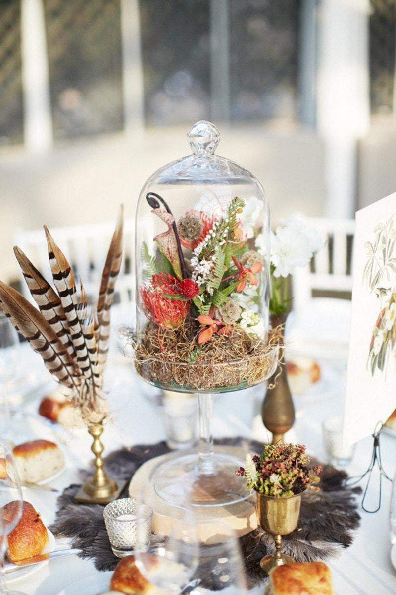 feather wedding ideas